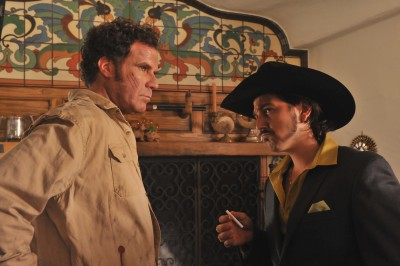 "Armando (Will Ferrell) consults with Raul (Diego Luna) in ""Casa De Mi Padre."""