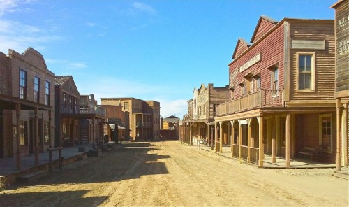 "Actor Garrett Dillahunt snapped this photo of a dusty small town where part of Quentin Tarantino's spaghetti western ""Django Unchained"" has been shot."