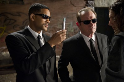 "Will Smith and Tommy Lee Jones are back in black as Agents J and K in ""Men in Black 3."""
