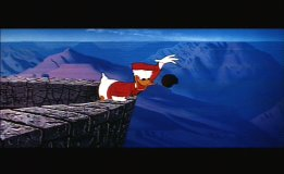 "Look out below! Donald Duck in ""Grand Canyonscope."""