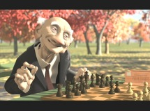 "A fall afternoon is the setting for the memorable chess game in ""Geri's Game"", Pixar's Academy-Award winning short."