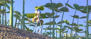 Flik sets off on his journey.