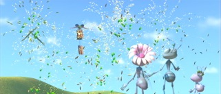 "Pixar makes visual fireworks with their imaginative outdoor setting for ""A Bug's Life."""
