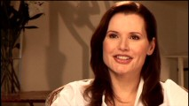 Geena Davis is happy to think back to her past film roles in an interview session used in three parts of the DVD.