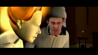 Jim Carrey's highly-dotted face gets placed over Scrooge's in this deleted scene visiting Belle's family.
