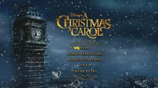 Big Ben may not yet be a functioning clock tower in 1843, but he makes for a fine snowy sight on the DVD's main menu.