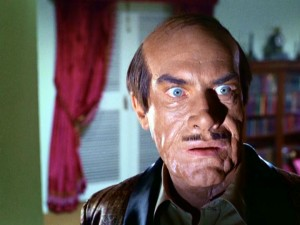 "Whether he's playing the Caribbean dictator or master of disguises Rollin Hand impersonating him, one thing is certain: Martin Landau looks scary in his ""Mission: Impossible"" pilot makeup."