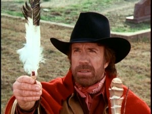 Chuck Norris holds up a feather in the name of those who didn't have what it takes to make it to the bottom of this review.