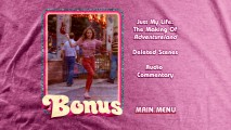 The bonus features menu displays a loop of spirited workplace dancing by Lisa P. (Margarita Levieva).