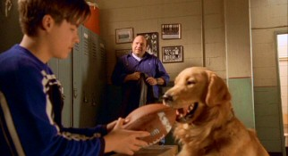 Coach Fanelli (Robert Costanzo) looks on as Josh (Kevin Zegers) and Buddy have found a new sport with which to bond.