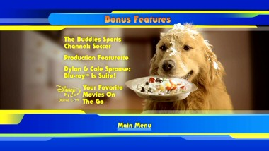 Ice cream, anyone? Buddy's messy sundae may be the most enticing thing on the DVD's Bonus Features' menu.