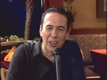 Gilbert Gottfried tries a new squinting, obnoxious act