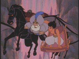 "Unimpressive TV-style animation in ""The Return of Jafar"""