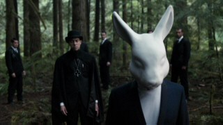 Mad March (Geoff Redknap) has a robotic head more reminiscent of the White Rabbit than the March Hare as he scours the countryside for Alice.