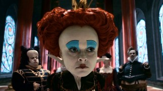 It's no figure of speech to say that Iracebeth (Helena Bonham Carter) the tyrannical Red Queen has a very big head.