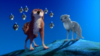 To make sure no wolf is left behind, a supporting Alpha/Omega pairing is formed between airheaded Eastern hunk Garth (voiced by Chris Carmack) and Kate's shaggy-haired white wolf friend Lilly (Christina Ricci).