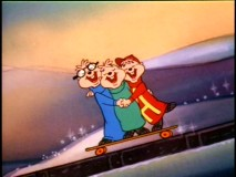 "The Chipmunks embrace the holiday season by singing and skateboarding about potential gifts in ""A Chipmunk Christmas."""