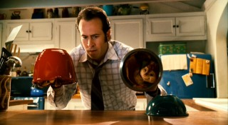 Dave Seville (Jason Lee) hears noises in his kitchen and suspects a commotion, but has trouble finding any visual evidence.