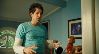 "In The Squeakquel, Jason Lee's Dave Seville gets ""Chucked"" for his younger relative instead, played by Zachary Levi."