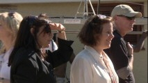 """The Power of Amelia Earhart"" shows director Mira Nair and producer Lydia Dean Pilcher surveying some of the on-location set up prior to filming."