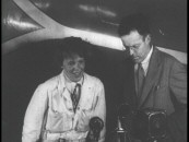 The real-life couple of Amelia Earhart and George Putnam very obviously (though earnestly) read off of cue cards in a Movietone newsreel appearance.