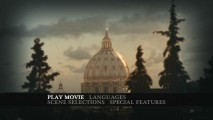 St. Peter's Basilica, the icon of the Catholic church, glows in the afternoon light on the DVD's main menu.