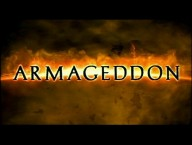 Armageddon's iconic logo concludes both worn out, overdramatically-narrated trailers.