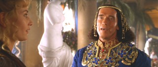 Arnold Schwarzenegger is not on auto-pilot for his cameo as a Turkish prince.
