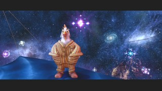 A computer-animated chicken appears in the alternate opening sequence.