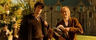Liverpudlian lad Jude (Jim Sturgess) gets directions and a laugh from his new Yankee friend Max (Joe Anderson) while on the campus of Princeton University.