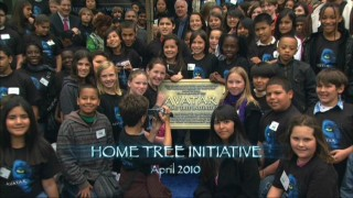 "As a means of promoting Earth Day (and, not so coincidentally, the original Avatar DVD and Blu-ray release), a ""home tree"" was planted for dozens of students to witness."