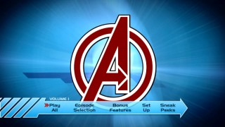 The Avengers A logo precedes every iteration of the main menu's nifty four-hero montage.