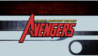 "The title logo for ""The Avengers: Earth's Mightiest Heroes!"" features silhouettes of those heroes over the ridge of the A."