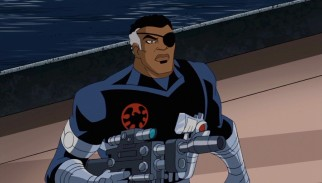 "Eye-patched S.H.I.E.L.D. head Nick Fury is targeted by a formidable escaped foe in the disc-closing two-parter ""Breakout."""