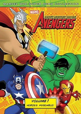 The Avengers: Earth's Mightiest Heroes! Volume 1 DVD cover art -- click to buy from Amazon.com