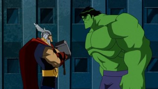 "Mighty Thor and the Incredible Hulk, the two founding members taking residence at Avengers Mansion, do not get along in ""Some Assembly Required."""