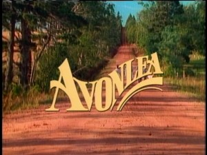 "There's plenty of running through fields in the opening credits sequence, which features this yellow ""Avonlea"" title."