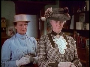 Marilla Cuthbert (Colleen Dewhurst) and Rachel Lynde (Patricia Hamilton) are among the recurring Avonlea townsfolk.