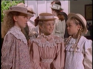 Post-church gossip among the mostly blonde young females of Avonlea.
