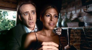 While showing off his childhood hangout, McDonagh (Nicolas Cage) tells his girlfriend Frankie (Eva Mendes) a tender story involving a metal detector and a sterling silver spoon.