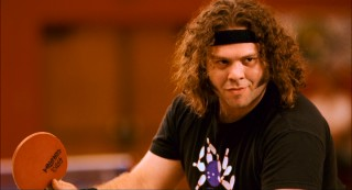 "Former childhood ping-pong prodigy Randy Daytona (Dan Fogler) returns to table tennis reluctantly and out of shape in ""Balls of Fury."""