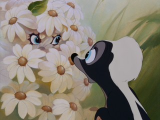 Even Flower is wide-eyed at Bambi's new high-definition restoration!