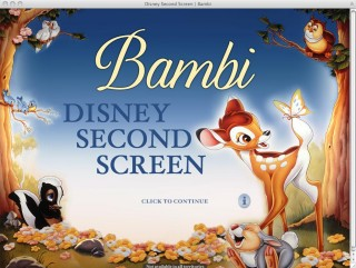 The best thing about Bambi's Second Screen is the way this home page reminds me of the 1988 reissue's theatrical poster.