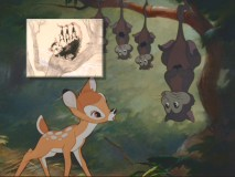 Concept art of the possums is compared to the final scene in the film.