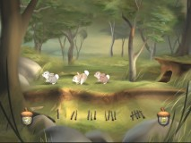 "Count the rabbits in ""Twigonometry"", one of 7 games that make up ""The Forest Adventure."""