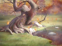 Fall (or 'Autumn', if you wish) is depicted in the Virtual Forest.