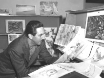 "A still of Walt Disney during the production of ""Bambi"" seen in the making-of documentary."