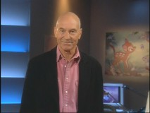 "Patrick Stewart introduces the featurette ""Restoring Bambi"" - it's one of three places he shows up on the DVD."