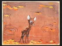 Nice looking concept art depicts Bambi in autumn scenery.