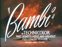 "The title screen from ""Bambi""'s original theatrical trailer."